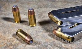 Handgun Ammunition Royalty Free Stock Photography