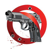 Handgun Beretta Elite Bloody Stop Royalty Free Stock Photo