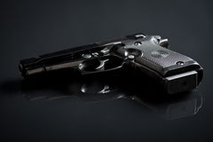 Handgun on black background Royalty Free Stock Photography