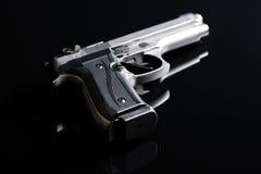 Handgun on black background Stock Photo