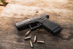 Handgun bullets Stock Photography