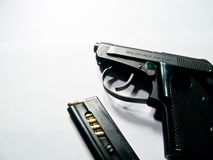 Handgun with clip Stock Photo