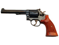 Handgun with clipping path Royalty Free Stock Photography