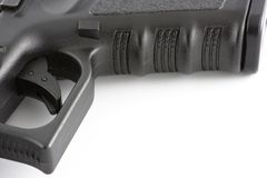 Handgun close up trigger Royalty Free Stock Images