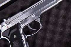 Handgun Closeup Stock Image