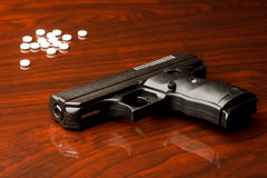 Handgun Drugs Stock Images