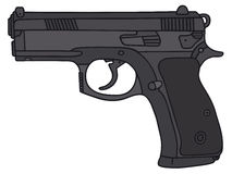 Handgun. Hand drawing of a handgun Stock Image