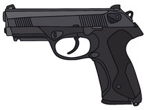 Handgun. Hand drawing of a handgun Royalty Free Stock Images