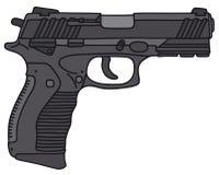 Handgun. Hand drawing of a handgun - not a real model vector illustration