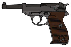 Handgun. Hand drawing of old german handgun Royalty Free Stock Images