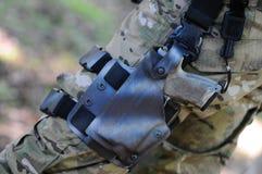 Handgun in holster Royalty Free Stock Photo