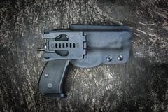 Handgun in holster Royalty Free Stock Photos