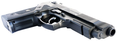 Handgun isometric view Royalty Free Stock Image