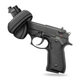 Handgun with knot Stock Image