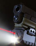 Handgun laser Royalty Free Stock Image