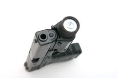 Handgun with Light Stock Photography