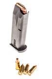 Handgun magazine with ammunitions Stock Photography