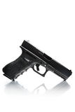 Handgun with natural reflection Royalty Free Stock Images