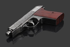 Handgun with pattern Royalty Free Stock Image