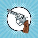 Handgun pop art. Icon vector illustration graphic design royalty free illustration