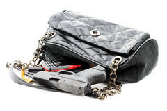 Handgun in Purse Stock Images
