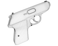 Handgun rendering Royalty Free Stock Image