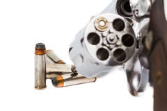 Handgun revolver with bullets Royalty Free Stock Image