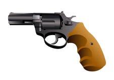 Handgun revolver, vector Stock Image