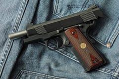 Handgun, semi-automatic. Royalty Free Stock Photos