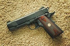 Handgun, semi-automatic. Stock Photo