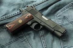 Handgun, semi-automatic. royalty free stock photography