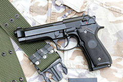 Handgun, semi-automatic. Stock Photos