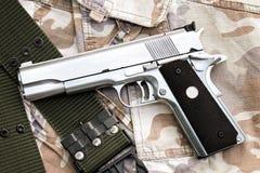 Handgun, semi-automatic. Stock Images