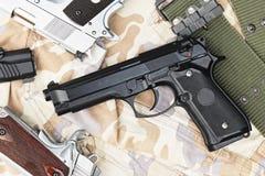 Handgun, semi-automatic. Royalty Free Stock Photo