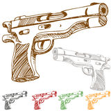 Handgun Sketch Stock Photos
