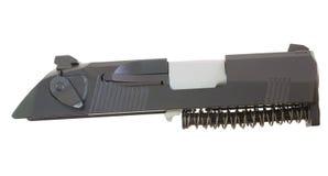 Handgun slide and guide rod Royalty Free Stock Image