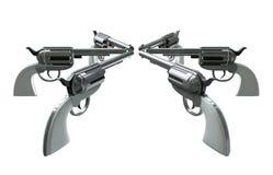 Handgun Standoff Stock Photography