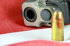 Handgun with United States flag - The Right to Bear Arms Royalty Free Stock Images