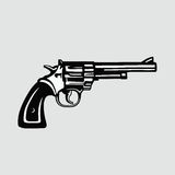 Handgun Vector Illustration Revolver. Handgun Revolver Vector Illustration Clipart Stock Images