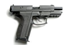 Handgun on white. 9mm Handgun isolated on white background Stock Photos