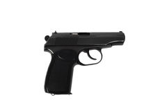 Handgun on white Stock Photos