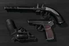 handguns стоковые изображения rf
