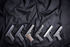 Handguns royalty free stock photo