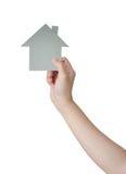 Handhåll ett huspapper Arkivfoto