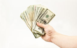 Handhaben des Geldes Stockbild