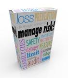 Handhaben Sie Risiko-Paket-Kasten-Sicherheits-Sicherheits-Grenzhaftungs-Verlust Lizenzfreie Stockfotografie