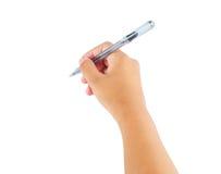 Handhandstil med pennan Royaltyfri Foto