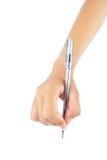 Handhandstil med pennan Arkivfoton