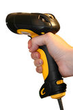 Handheld Barcode Scanner. On White Background Royalty Free Stock Photography