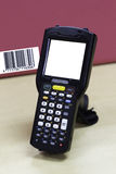 Handheld barcode scanner reader with blank screen Stock Image